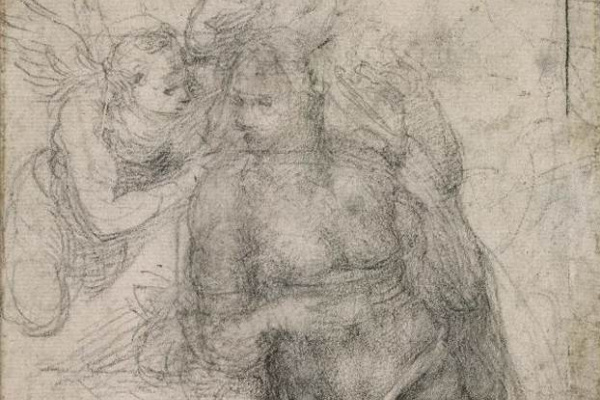 Michelangelo Buonarroti. The Annunciation (sketch)