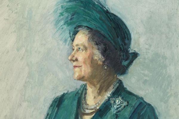 Майкл Ноакс. Елизавета, королева-мать. Эскиз к портрету