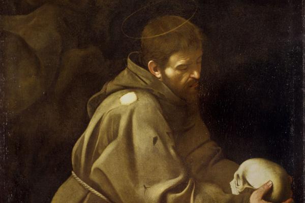 Микеланджело Меризи де Караваджо. Молитва святого Франциска