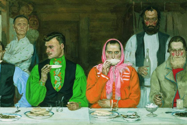 Андрей Петрович Рябушкин. Чаепитие