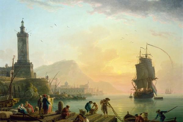 Клод Жозеф Верне. Штиль в средиземноморском порту