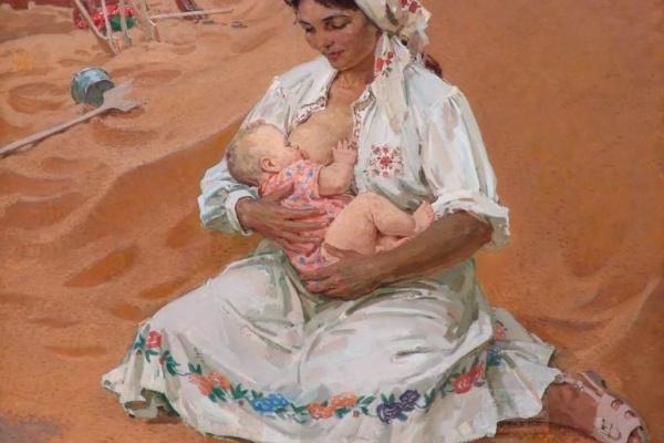 Nikolay Vasilyevich Ovchinnikov 1918-2004. Strada Mother. 1974