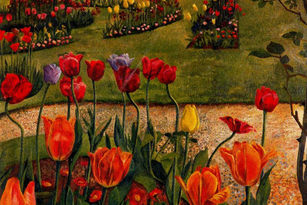 Stanley Spencer. Red tulips