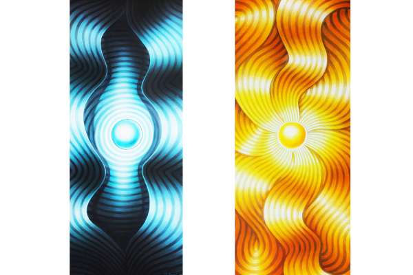 Igor Kirillovich Petroff. «The Moon» and «The Sun» / Diptych