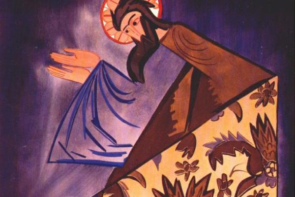 Наталья Сергеевна Гончарова. Эскиз костюма святого Луки к балету Леонида Мясина «Литургия»