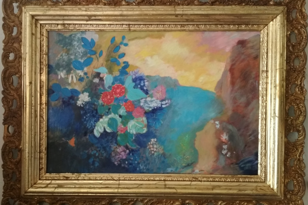 "Odilion Redon. ""Ophelia among the flowers"""