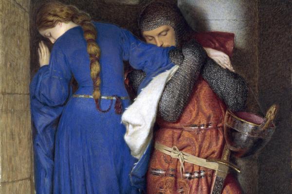 Фредерик Уильям Бертон. Хеллелила и Хильдебранд: встреча на башенных ступенях