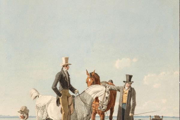 Вильгельм Александр Вольфганг фон Кобелль. Всадник на лошади перед замком Аммерланд