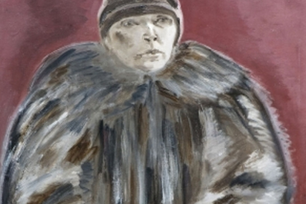 Ксения Васильевна Нечитайло. Автопортрет в шубе