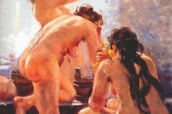 Александр Михайлович Герасимов. Коммунальная ванна (исследование) 1940-е