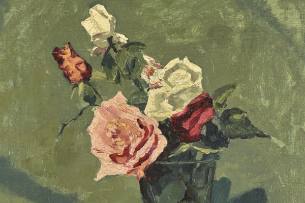 Winston Churchill. Study of roses