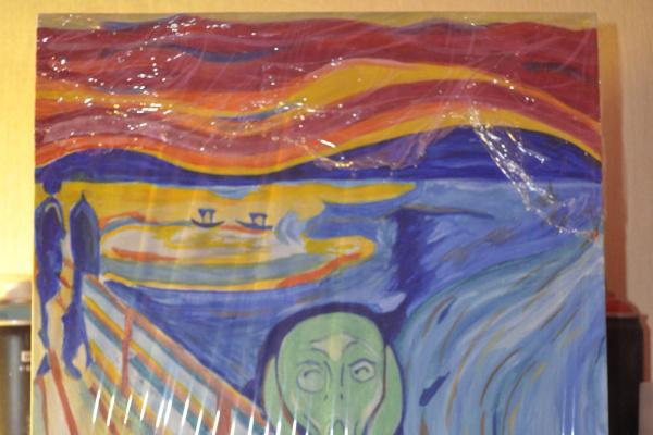 Anton Bashkov. Edvard Munch scream №1 Remake 2018 ART +painting`s