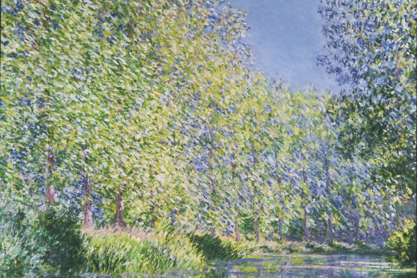Claude Monet. Bend of the river Epte near Giverny