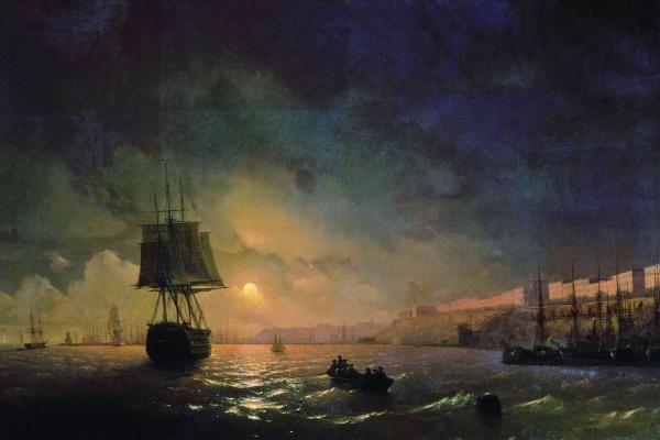 Иван Константинович Айвазовский. Вид Одессы в лунную ночь