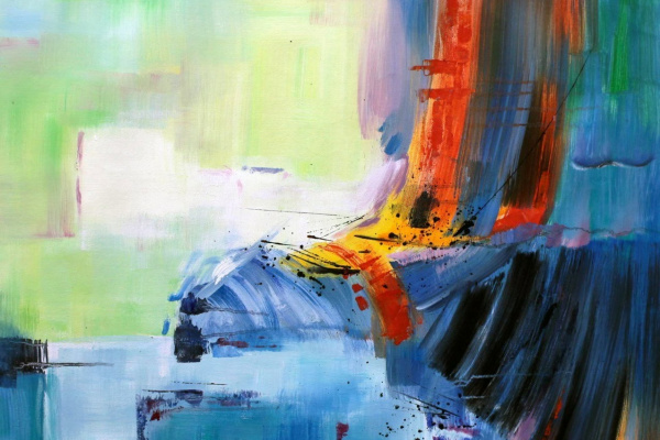 Christina Viver. Mind games. Abstraction with vanishing shadow