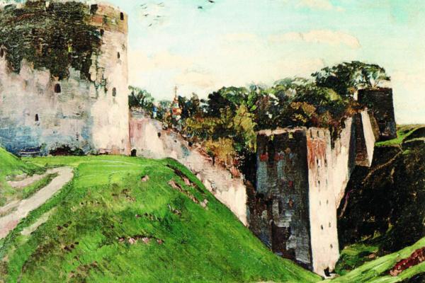 Sergey Arsenievich Vinogradov. The ancient walls. The Pskovo-Pechersk monastery