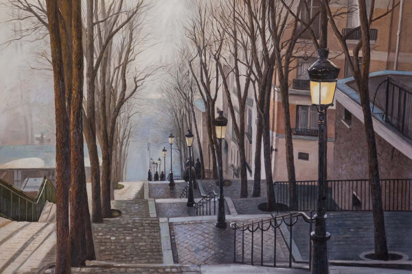 Savely Kamsky. Paris. Fog. Montmartre