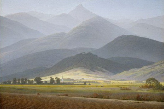 Caspar David Friedrich. Mountain landscape (Small Sturmhaube of Warmbrunn)