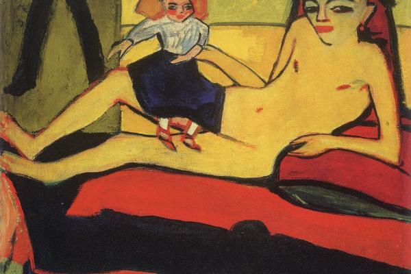 Эрих Хеккель. Девочка с куклой (Франци)