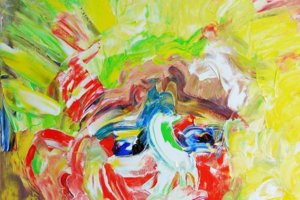 Кандинский-ДАЕ. Sunny boy. (Sasha son of the artist). Oil on canvas, 50-40, 2005