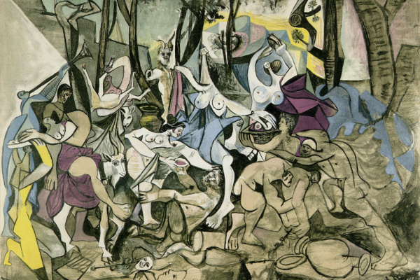 Pablo Picasso. Orgy. The triumph of pan (inspired by Poussin)
