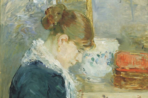Berthe Morisot. Woman sewing