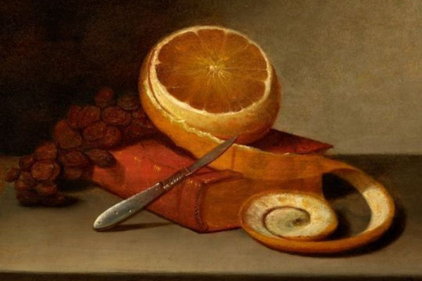 Raphaelle Peale. Orange and book