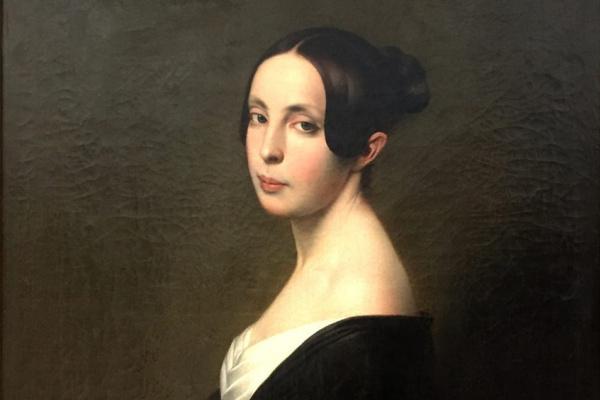 Франц Ксавер Винтерхальтер. Портрет дамы с гвоздикой.