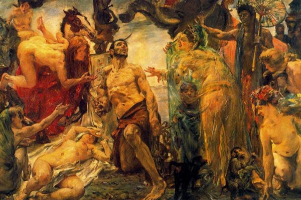 Lovis Corinto. The Temptation Of St. Anthony