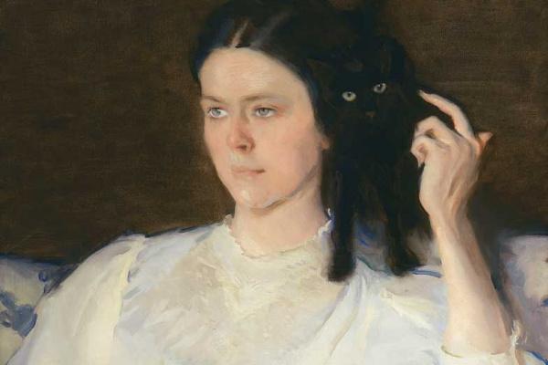 Сесилия Бо. Сита и Сарита. Портрет Сары Ливитт. Девушка с кошкой