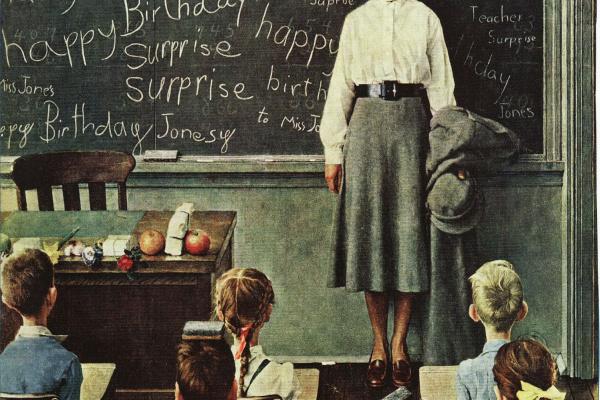 Норман Роквелл. День рождения учителя