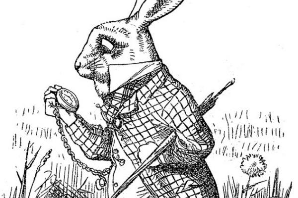 Джон Тенниел. Белый кролик.