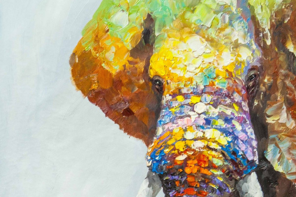 Christina Viver. Multicolored elephant