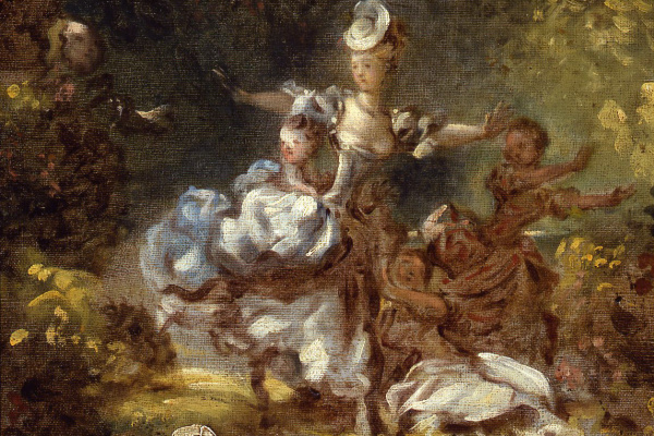 """Jean Honore Fragonard. Sketch for """"Persecution"""""""