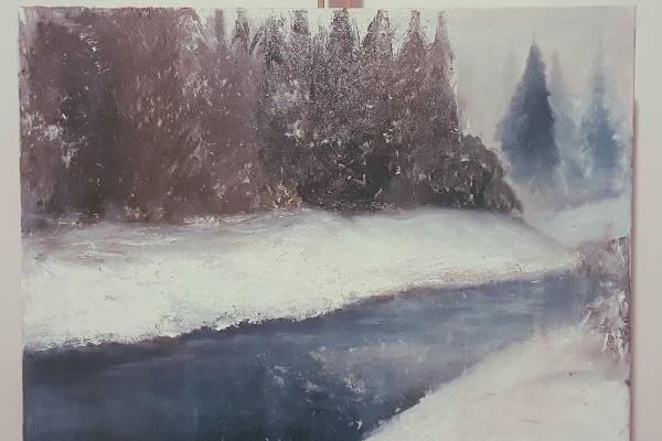 Кирилл Александрович Адяев. Зимний пейзаж
