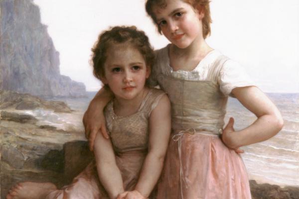 Адольф Вильям Бугро. Две сестры на берегу