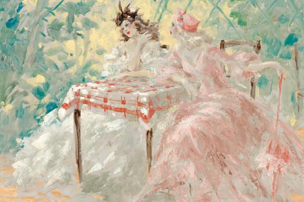 Icarus Louis France 1888 - 1950. In the gazebo.