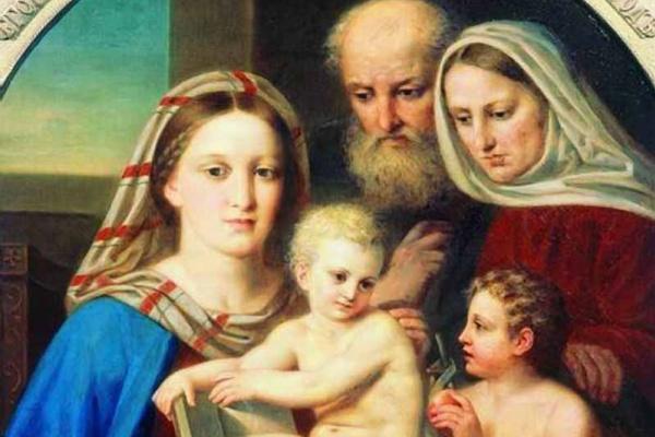 """Алексей Егорович Егоров. """"Святое семейство"""". 1850"""