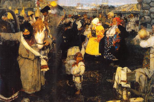 Николай Иванович Фешин. Черемисская свадьба (Увоз молодушки)