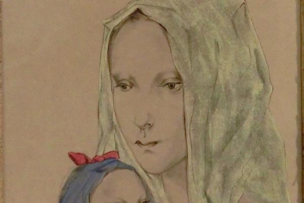 Цугухару Фудзита ( Леонар Фужита ). Мать и дитя
