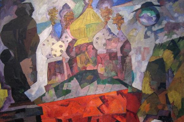 Аристарх Васильевич Лентулов. Тверской бульвар. 1917