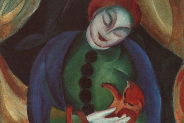 Франц Марк. Женщина с кошкой