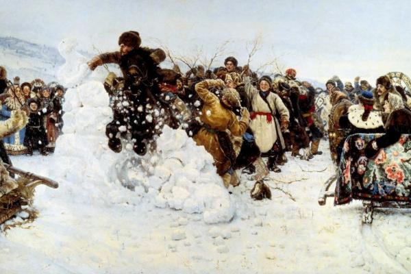 Vasily Ivanovich Surikov. The capture of snow town