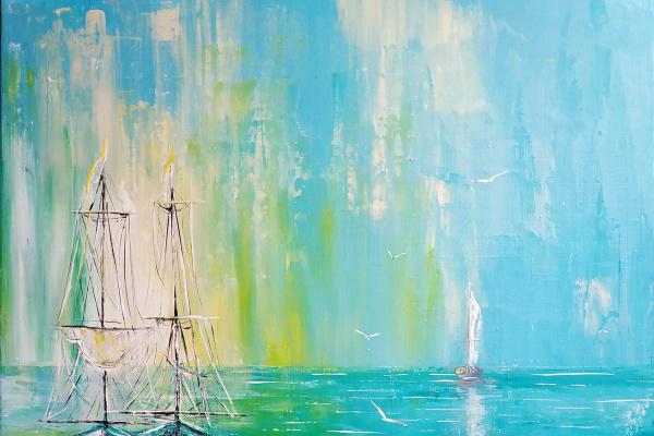 Irina Stukaneva. Boats. Depth.