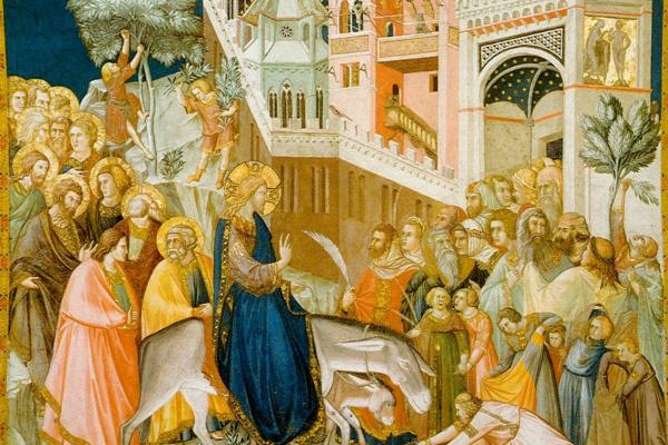 Pietro Lorenzetti. The entrance of Jesus into Jerusalem