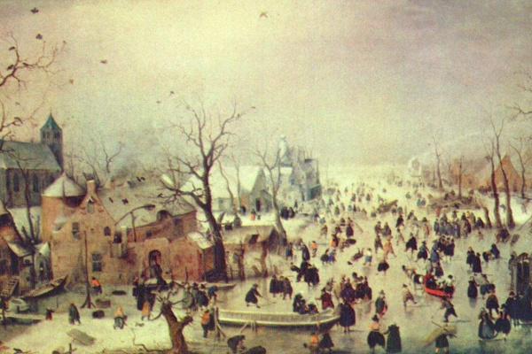 Хендрик Аверкамп. Зимний пейзаж с катающимися на коньках