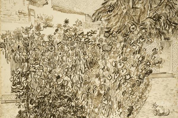 Vincent van Gogh. Garden of a bath