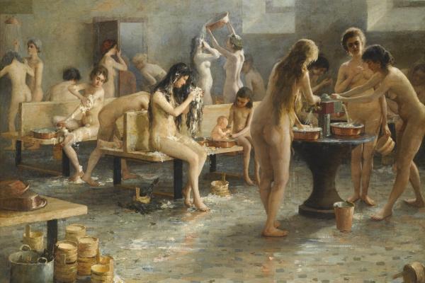 Владимир Александрович Плотников. В женской бане. 1897