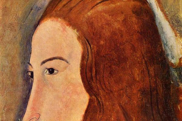 Amedeo Modigliani. Portrait of a young woman (Profile of Jeanne hébuterne)