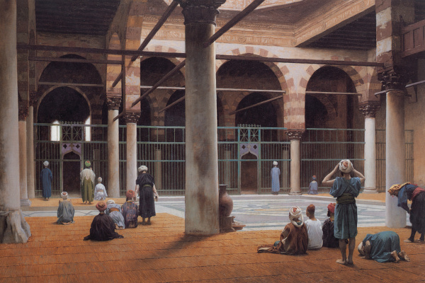Jean-Leon Jerome. The interior of the mosque